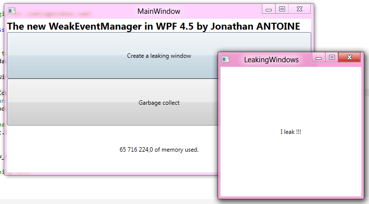 WPF 4 5 – Part 2 : Improved WeakEventManager | Jonathan