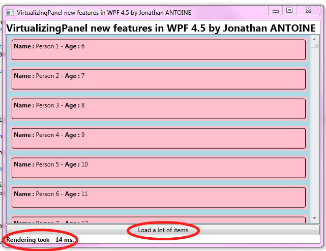 WPF 4 5 – Part 11 & 12 : new features for the VirtualizingPanel