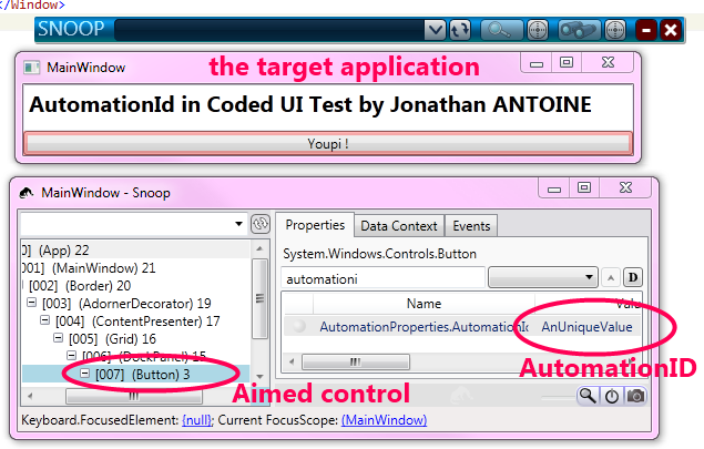 Coded UI tests : AutomationId or how to find the chose one (control